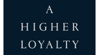 The title of the new book 'A Higher Loyalty' by James Comey